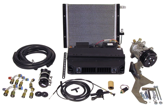 Complete Under Dash Air Conditioning Kit with Horizontal Condenser