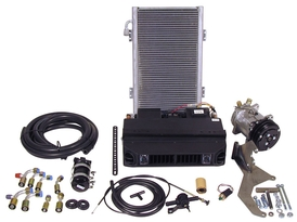 Complete Under Dash Air Conditioning Kit with Vertical Condenser
