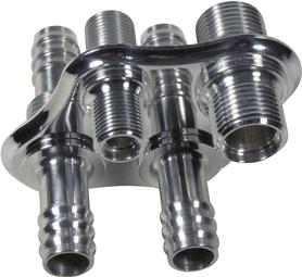 4 Way Diamond A/C & Heat Bulkhead with Push On Heater Fittings