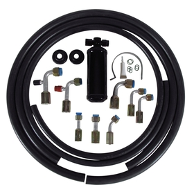 Budget Beadlock A/C Hose Kit with Black Drier