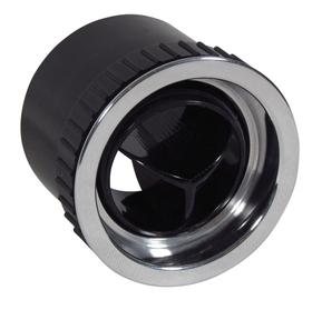 Round Tri-Lite A/C Vent with Recessed Aluminum Bezel
