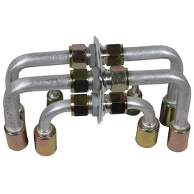 bulkhead fitting pack with extended heater fittings